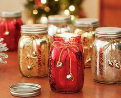 DIY Glittered Jar Candles