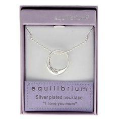 Equilibrium 'I Love You Mum' Necklace £14.99 at Macmillans of Penwortham