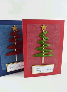 Tips and Templates: Christmas Cards Crafts Templates Christmas … – DIY Ideas Christmas Card Crafts, Homemade Christmas Cards, Christmas Templates, Christmas Cards To Make, Christmas Gift Wrapping, Christmas Art, Homemade Cards, Handmade Christmas, Holiday Crafts