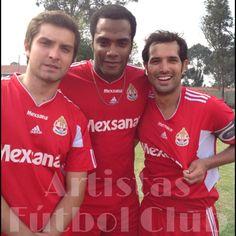 Jairito Guerrero, Luis Felipe Cortés y Alejandro Estrada.