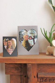 Have fun making a heart-shaped photo frame with paper in less than 10 minutes. This easy papercraft is perfect to frame your favorite pictures. This craft is super easy to make, you just have to print the template on cardstock and you can start making your paper photo frame.You can get the template on my blog. There are 2 size templates available: one for 4x6 inches photos and one for smaller pictures of 4 1/2 x 3 1/2 inches.Take the front piece of the frame and cut it following th… Inexpensive Birthday Gifts, Easy Diy Gifts, Interior Design Ikea, Interior Designing, Diy Home Accessories, Diy Porch, Diy Home Repair, Paper Frames, Diy Photo