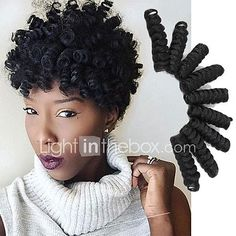 Crochet Bouncy Curl Twist Braids kinky curly Hair Extensions Kanekalon Hair Braids curlkalon braiding 2017 - $7.6