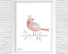 watercolor print poster, minimal, scandinavian, for kids , gift, with quote, botanic illustration, animal, flower, nature.