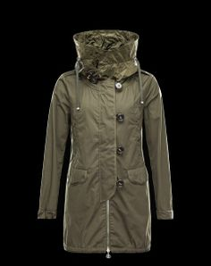 Moncler Sarcelle military green trench coat #moncler #spring #summer #women #collection