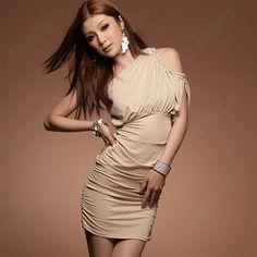 Discount China china wholesale Nightclub Sexy Slim Halter One-Shoulder Ladies Oblique Cocktail Clubbing Dress [30997] - US$8.99 : Bluelans