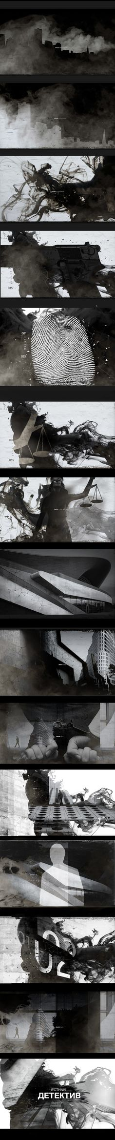 TRUE_DETECTIVE / RUSSIA_1_CHANNEL on Behance - title sequence - openers - motion design