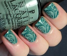 Oooh, Shinies!: Starting the month with swirly green