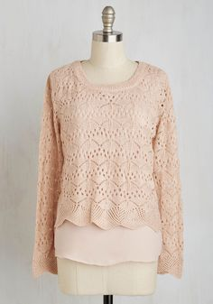 Cafe Con Lovely Sweater in Petal. Enjoy the ambiance and bevvies of your favorite coffee shop, and look darling while doing so in this pink sweater! #pink #modcloth