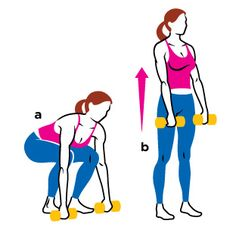 Bent-Knee Dumbbell Deadlift | Women's Health Magazine