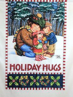 "Mary Engelbreit Holiday Hugs Flag Banner Indoor Outdoor 25"" W X 38"" L"