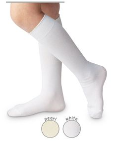 a7f0d144931 Boys or Girls Nylon Knee Socks Pearl or White by Jefferies   NB INF TOD XS