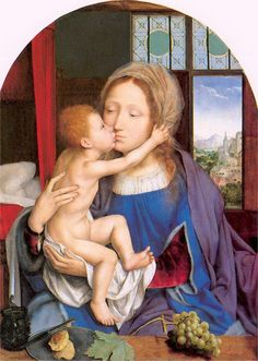 It's About Time: Madonna and Child-Quentin Massys (Belgian painter, 1466-1530) Madonna and Child. 1525