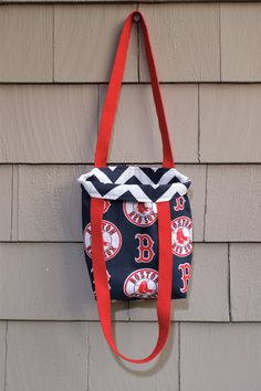 63412e9a61d Items similar to Red Sox Reversible Tote- 3 sizes available on Etsy