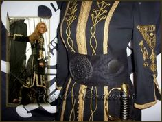 elizabeth swann pirates of the caribbean at worlds end costume black and gold