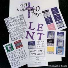 Shower of Roses: Our Annual Lenten Calendar