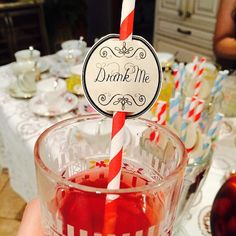 Alicia en el país de las maravillas Tea Party 24 Drink Me paja de cumpleaños