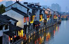 Wuxi Canal sunset- China