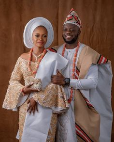 Traditional Wedding Attire, African Traditional Wedding, Matching Couple Outfits, Matching Couples, African Women, African Fashion, African Wedding Attire, Yoruba Wedding, Fashion Outfits