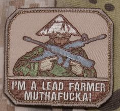 US Patriot Tactical - Lead Farmer Patch Mil-Spec Monkey Morale Patches, $4.99 (http://uspatriottactical.com/lead-farmer-patch-mil-spec-monkey-morale-patches)