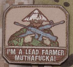 US Patriot Tactical - Lead Farmer Patch Mil-Spec Monkey Morale Patches, $4.99 (http://uspatriottactical.com/lead-farmer-patch-mil-spec-monkey-morale-patches)
