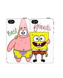 Online Shop Hot sale Cute Spongebob and Patrick Couple Best Friends Cover Case for iphone 5 5s 4 4s 5c Aliexpress Mobile