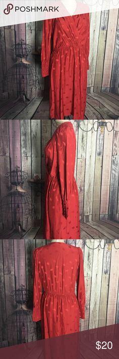 Michelle Stuart dress Red with diamond design and old fashion michelle stuart Dresses Midi