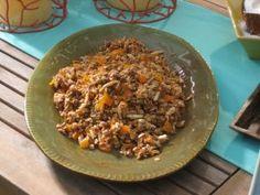 Homemade Mango-Agave Granola with Greek Yogurt recipe from Bobby Flay via Food Network Healthy Breakfast Recipes, Brunch Recipes, Healthy Foods, Healthy Eating, Healthy Recipes, Healthy Breakfasts, Chef Recipes, Drink Recipes, Healthy Life