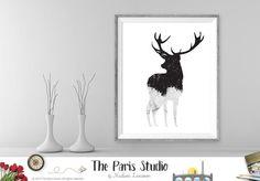 Instant Download Digital Art: Deer