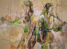 """""""Vereinsamung"""", Acryl auf Leinwand, 150 x 110 cm"""