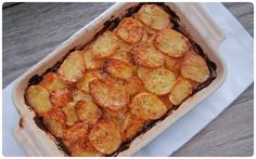 Crunchy, Creamy Dauphinoise Potatoes. Dauphinoise potatoes are basically slices of potatoes layered with cheese, butter and cream and then baked until crunchy on the outside and cheesy and gooey in the middle.