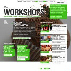 Electrolux site design on Behance