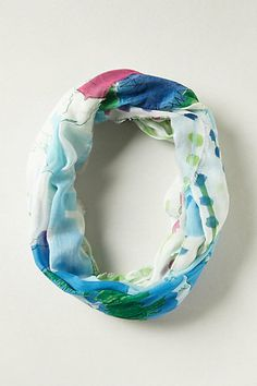 Tooting our horn a bit @Lauren Sawchik and I designed these watercolor printed scarves for Anthropologie and they are now available online!