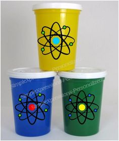 Mad Scientist Party Atom Kids Personalized Tumbler Cup by mboston9, $6.00
