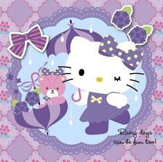 hello kitty, kitty, and purple 圖片 Hello Kitty Cake, Hello Kitty Items, Sanrio Hello Kitty, Wallpapers Wallpapers, Cute Cartoon Wallpapers, Hello Kitty Backgrounds, Hello Kitty Wallpaper, Hello Kitty Imagenes, Hello Kitty Pictures