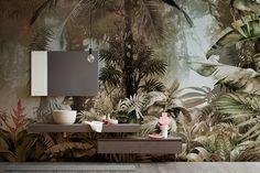 Papier peint MOWGLI Collection Collection By Inkiostro Bianco Vinyl Wallpaper, Home Wallpaper, Wallpaper Murals, Diy Bedroom Decor, Wall Decor, Home Decor, Traditional Wallpaper, Creative Decor, Home Interior