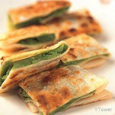 抹茶桂花鍋餅食譜 - 中式點心料理 - 楊桃美食網 專業食譜