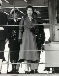 Undated handout photo issued by Derry~Londonderry UK City of Culture 2013 of Queen Elizabeth II on the HMS Rocket at Lisahally Docks in July 1953. Pictures of the Queen making her first visit to Northern Ireland as monarch have been unearthed for a digital archive marking Londonderry's year as city of culture. The images were taken by Royal Naval photographer Raymond White as the Queen arrived by train at Lisahally docks at Londonderry in July 1953, towards the end of a three-day visit to…