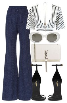 """""""Sem título #2403"""" by mariandradde ❤ liked on Polyvore featuring Balmain, Yves Saint Laurent and Acne Studios"""