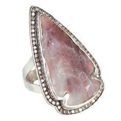 The one of a kind Jasper arrowhead rings with champagne diamonds by Pamela Love.... Amazing!