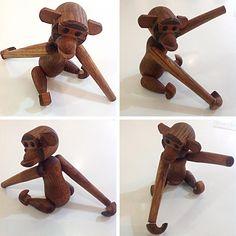 #MidCentury #ZooLine Style #Teak Articulated #Monkey From #Japan . Info @ link below.  | Rocket Century  - St. Louis, MO