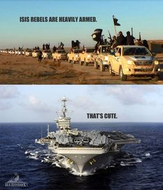 A word to Isis from the United States Navy...