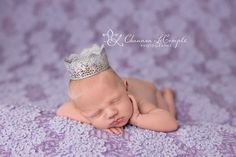 Newborn Silver Crown Princess Newborn Newborn Girl Crown Newborn Photography Prop by MiyahsCloset on Etsy