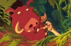 Day 11: Favorite animal sidekick. This is kinda cheering cuz there are 2 but Timon and Pumba