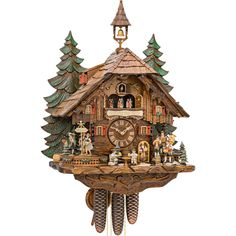 Cuckoo clock HekasCuckoo clock HekasCuckoo clock Chalet-Style by Hekas - EXCuckoo clock of the year 2018 from Hekas! Wonderful watch from the Black Forest, handmade in Germany! Modern Cuckoo Clocks, Cute Clock, Black Forest Germany, Clock Tattoo Design, Clock Shop, Wood Shingles, Chalet Style, Linden Wood, Clock Art