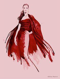 Ellie Rahim Illustration and Design: Commissioned Fashion Illustration