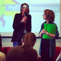 Con Federica Lisi. #mammacheblog 2013