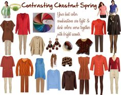 """Contrasting Chestnut Spring Color Palette"" by jeaninebyers on Polyvore"