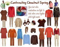 """Contrasting Chestnut Spring Color Palette"" by jeaninebyers on Polyvore"
