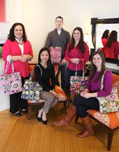 Vera Bradley Table Talk with a few fairly new employees.