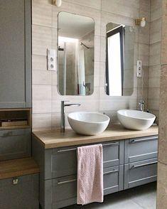 A ház további részei #interiordesign #interiordesignhungary #design #belsőépítészet #lakberendezés #familyhome #home #bathroom #bath #barhroomdesign #bedroom #bluewall #lightning Double Vanity, Bathroom, Instagram Posts, Washroom, Full Bath, Bath, Bathrooms, Double Sink Vanity